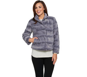 """As Is"" Dennis Basso Pelted Faux fur Jacket - A293"