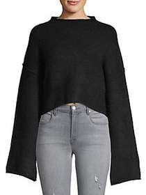 Free People Lost In A Forest Sweater BLACK