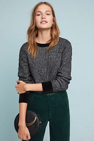 Anthropologie Solace Cable-Knit Sweater