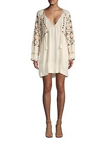 Free People All My Life Embroidered Bohemian Dress