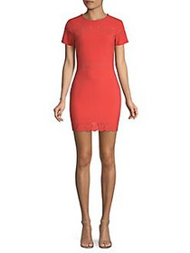 Likely Perforated Eyelet Bodycon Dress BITTERSWEET