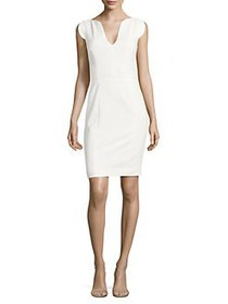 French Connection Lolo Stretch Sheath Dress WHITE