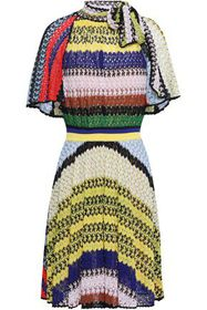 MISSONI Pussy-bow patchwork-effect crochet-knit mi