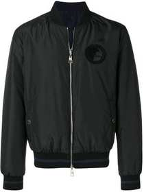Versace Collection logo bomber jacket