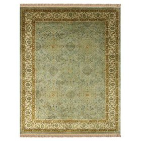 Barcroft Hand-Tufted Wool Olive Area Rug