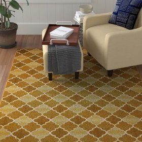 Alice Gold Indoor/Outdoor Area Rug