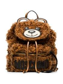 Moschino brown teddy bear shearling backpack