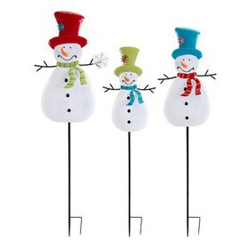 3 Piece Christmas Snowman Set