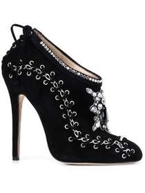 Marchesa 'Harper' embroidered boots