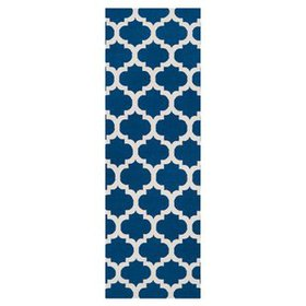 Hackbarth Hand-Woven Blue/Winter White Area Rug