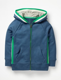 Boden Sports Stripe Zip-up Hoodie on sale at Boden