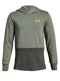 Under Armour Boy's Double Knit Hoodie GREEN MULTI
