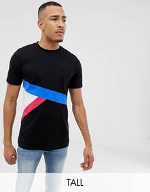 Another Influence TALL Contrast Color Block T-Shir