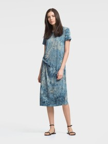 Donna Karan TIE-DYE JERSEY T-SHIRT DRESS