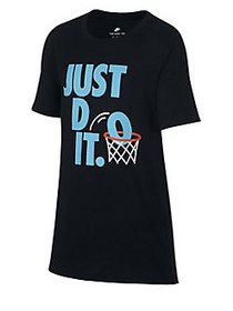 Nike Boy's Graphic Cotton Tee BLACK