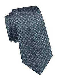Giorgio Armani Rectangle Jacquard Silk Tie JADE