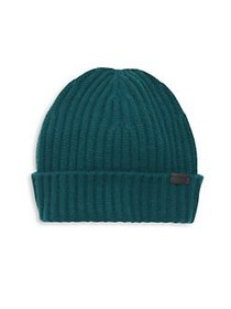 COACH Knitted Cashmere Beanie FOREST