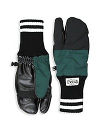 Evolg Colorblock Touch Screen Gloves BLACK KHAKI