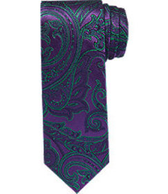 Jos Bank Reserve Collection Bold Paisley Tie CLEAR
