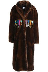 STELLA JEAN Appliquéd faux fur coat