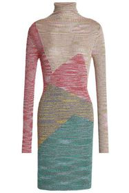 MISSONI Color-block metallic ribbed-knit turtlenec
