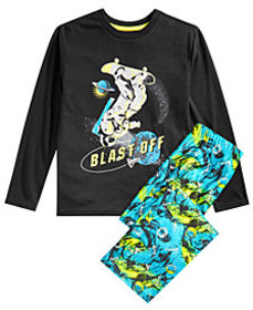 Max & Olivia Little & Big Boys 2-Pc. Blast Off Glo