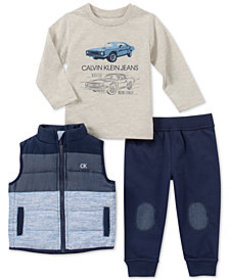 Calvin Klein Little Boys 3-Pc. Vest, Shirt & Jogge