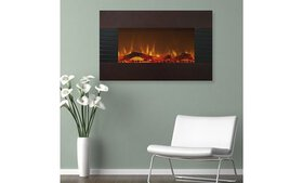 """Northwest 36"""" Mahogany Fireplace with Wall Mount &"""