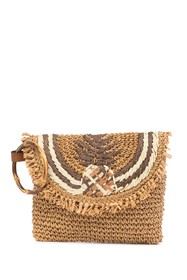 Tommy Bahama Puerto Limon Pineapple Straw Clutch