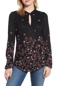 Lucky Brand Floral Print Top