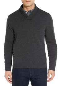 NORDSTROM MEN'S SHOP Shawl Collar Cashmere Pullove