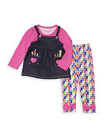 Nannette Little Girl's Two-Piece Crayon Top and Le