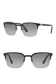 Prada 52mm Square Sunglasses