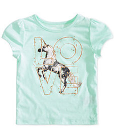 Epic Threads Little Girls Love Unicorn T-Shirt, Cr