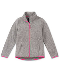 Nautica Big Girls Heathered Polar Fleece Jacket
