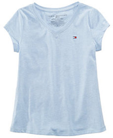 Tommy Hilfiger Big Girls Cotton V-Neck T-Shirt