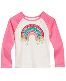 Epic Threads Little Girls Rainbow Raglan T-Shirt,