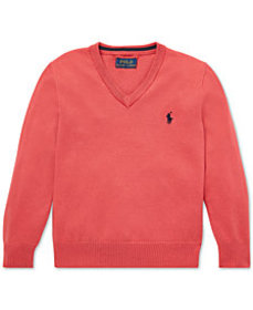 Polo Ralph Lauren Toddler Boys Cotton V-Neck Sweat