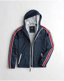 Hollister Stretch Mesh-Lined Windbreaker, NAVY