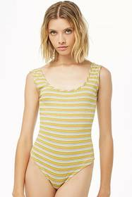 Forever21 Striped Tank Bodysuit