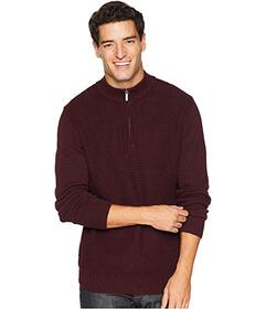 Ben Sherman 1\u002F4 Zip Funnel Neck Sweater