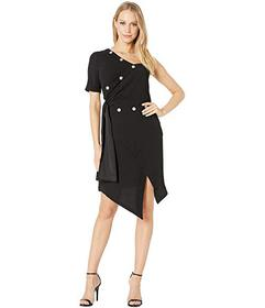 Bebe Crepe Snap Wrap Dress