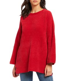 Eileen Fisher Petite Size Round Neck Chenille Top