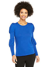 The Limited Long Sleeve Crew Neck Puff Sleeve Pull