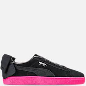 Women's Puma Suede Bow Block Casual Shoes