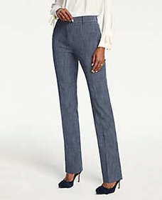 The Straight Pant In Crosshatch
