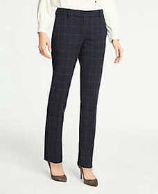 The Straight Pant In Windowpane - Curvy Fit