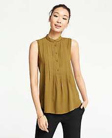 Geo Lacy Pleated Shell