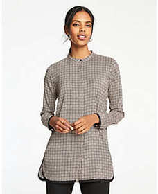 Geo Tipped Tunic Blouse