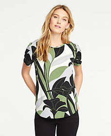 Colorblock Floral Mixed Media Tee